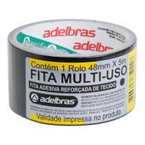 Fita Adesiva Silver Tape 48 MM  5 Metros Cinza ADELBRAS -