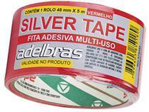 Fita Adesiva Silver Tape Adelbras 48mm x 05m Vermelha com 05 Unidades -