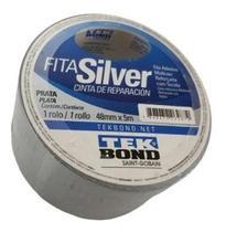 Fita Adesiva Silver Tape Prata 48mm X 5 Metros Rolo Tekbond -