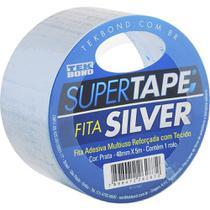 Fita Adesiva Silver Tape Prata 48mm x 5m Tekbond -
