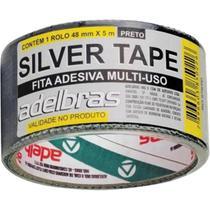 Fita adesiva silvert adelbras 48x 5m preta -