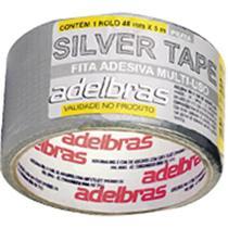 Fita adesiva silvert adelbras 48x50m prata -