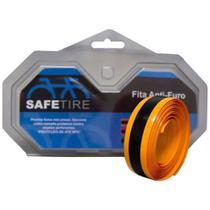 Fita anti-furo aro 700 safetire 23mm laranja - 700x23 / 700x25 - par  speed -