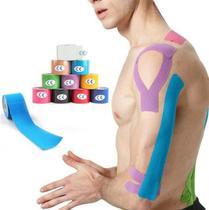 Fita Bandagem Kinesio Tape 5m por 5cm Elástica Esporte - OEM