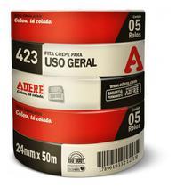 Fita Crepe 24X50 Média Uso Geral Adere -