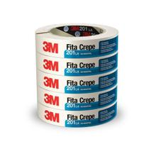 Fita Crepe 3m Uso Industrial 201 24x50m  Hb004415376 Kit C/5 -