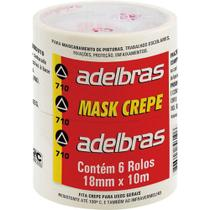 Fita Crepe 710 18mmx10m - 6 Rolos Adelbras -
