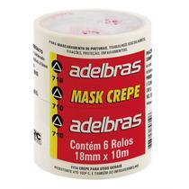 Fita Crepe 710 18Mmx10Mts. Pct.C/06 Adelbras -