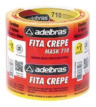 Fita Crepe Adesiva 48mm X 50m Adelbras - Pacote Com 2un -
