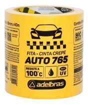 Fita Crepe Amarela Automotiva Adelbras 765 48x40 2 Rolos -
