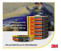 Fita Crepe Automotiva Alta Performance 24mm X 40m 3m Amarela -