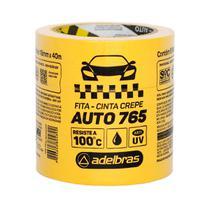 Fita Crepe Automotiva Amarela 765 Adelbras 18mmX40m C/6 Rolos -