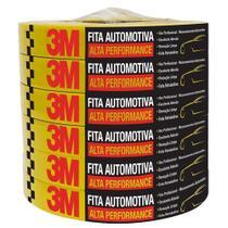 Fita Crepe Automotiva Amarela Alta Performance 18mmx40m 12x1 - 3M -