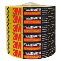 Fita Crepe Automotiva Amarela Alta Performance 48mmx40m 6x1 - 3M -