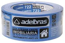 FITA CREPE AZUL 722 IMOBILIARIA - 48mm X 50m - Adelbras