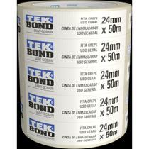 Fita Crepe Branca 24mmx50m Tekbond Pctc/5 -