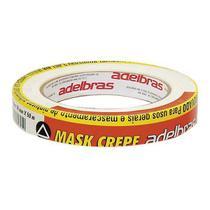 Fita Crepe Mask 710 Adelbras Branca 18mm x 50m -