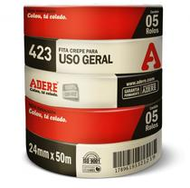 Fita Crepe Uso Geral 24X50 423 Com 5un Adere -