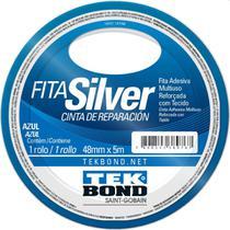 Fita De Alta Resistencia Silver Azul 48mmx5m Tekbond Unidade -