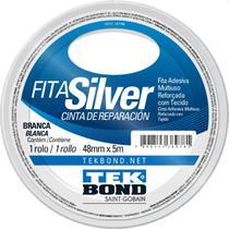 Fita De Alta Resistencia Silver Branca 48mmx5m Tekbond Unida -