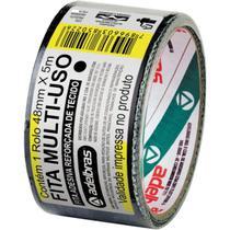 Fita De Alta Resistencia Silver Tape Preta 48mmx5m. Adelbras -