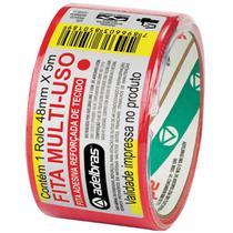 Fita de ALTA Resistencia Silver Tape Vermelha 48MMX5M. - Adelbras