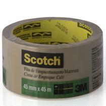 Fita de Empacotamento Scotch Marrom 45mmx45m Rolo Individual - 3M