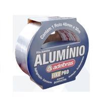 Fita de Isolamento e proteção Adelbras cor Alumínio 48 mm x30 m - Aldelbras