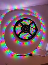 Fita de led 3528 Colorido 5 mts 12v com fonte e controle prova dágua - XT