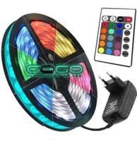 Fita de led colorida c/ fonte 5mt - Durawell - Rgb