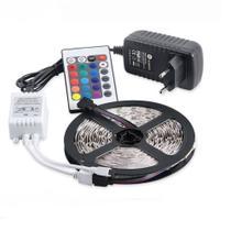 Fita de led rgb 5050 rolo com 5m + controle + fonte - Iunit
