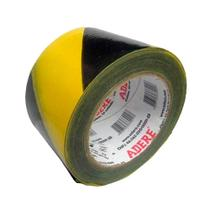 Fita Demarcação de Área Adere Zebrada Preto/Amarelo 870S 70mm x 200m -