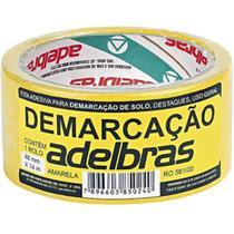 Fita Demarcação De Solo 48x14 Amarela Adelbras -