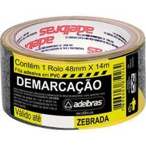 Fita Demarcacao Solo Adelbras 48x14m Zebrada  803050003 -