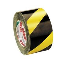 Fita Demarcação Solo Amarela Preta Zebrada 48mmX14m Adelbras -