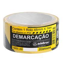 Fita Dermacação de solo 48mmx14m Zebrada Adelbras -