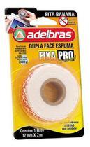 Fita Dupla Face 12mmX2m Espuma Banana Fixa Pro Adelbras -