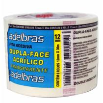 Fita dupla face 12x30 pp / 6rl / adelbras -