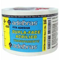 Fita dupla face 18x30 pp / 4rl / adelbras -
