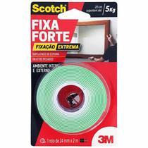 Fita Dupla Face 3M Scotch Fixa Forte 24mmx2m -
