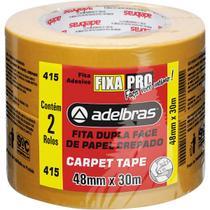 Fita dupla face carpete tape 48mmx30m pct.c/02 adelbras -