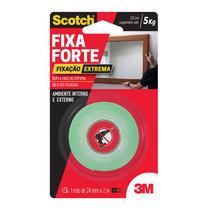 Fita dupla face espuma Fixa Forte 24mmx2m - Extreme - 3M -