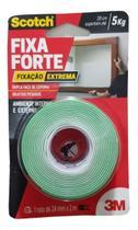 Fita Dupla Face Espuma Fixa Forte Scotch 3m 24mm X 2m - 5kg -