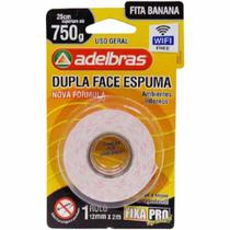 Fita Dupla Face Espuma Fixapro 12MMX2M Adelbras 01UN -