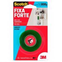 Fita Dupla Face Fixa Forte 19MM X 2M Fixa Forte Transparente 3M -