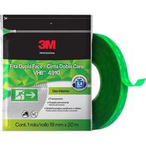 Fita Dupla Face Fixa Forte 3m 19mm X 20m Vhb 4910 Original - 3 M Profissional