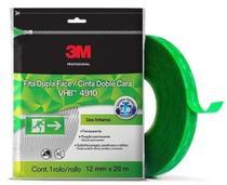 Fita Dupla Face Fixa Forte 3m Vhb 12 Mm X 20 M 4910 Original -