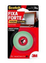 Fita Dupla Face Fixa Forte Extreme 25mmx2m Transparente Scotch 3m -
