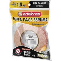 Fita Dupla Face Fixa PRO Espuma 19MMX10M - Adelbras