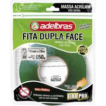 Fita Dupla Face Fixa PRO Massa Acrilic 19MMX20 - Adelbras
